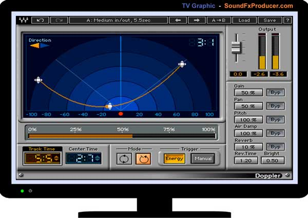 TV graphic - Waves Doppler plugin