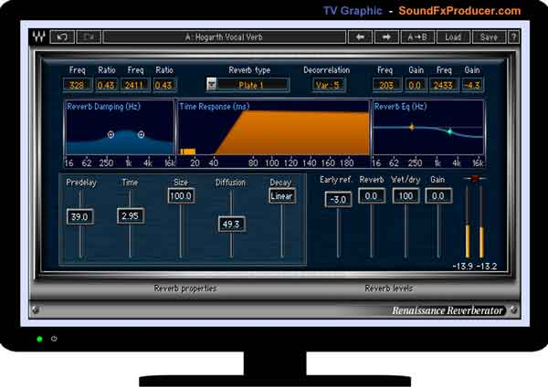 TV graphic Waves Renaissance Reverberator plugin