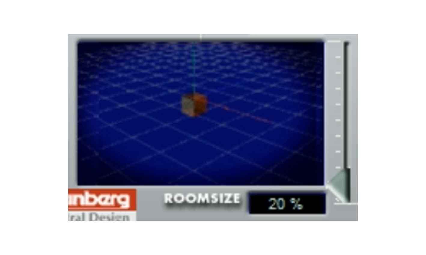 Screen shot of Steinberg(Spectral Design) Reverb 32 plugin room size
